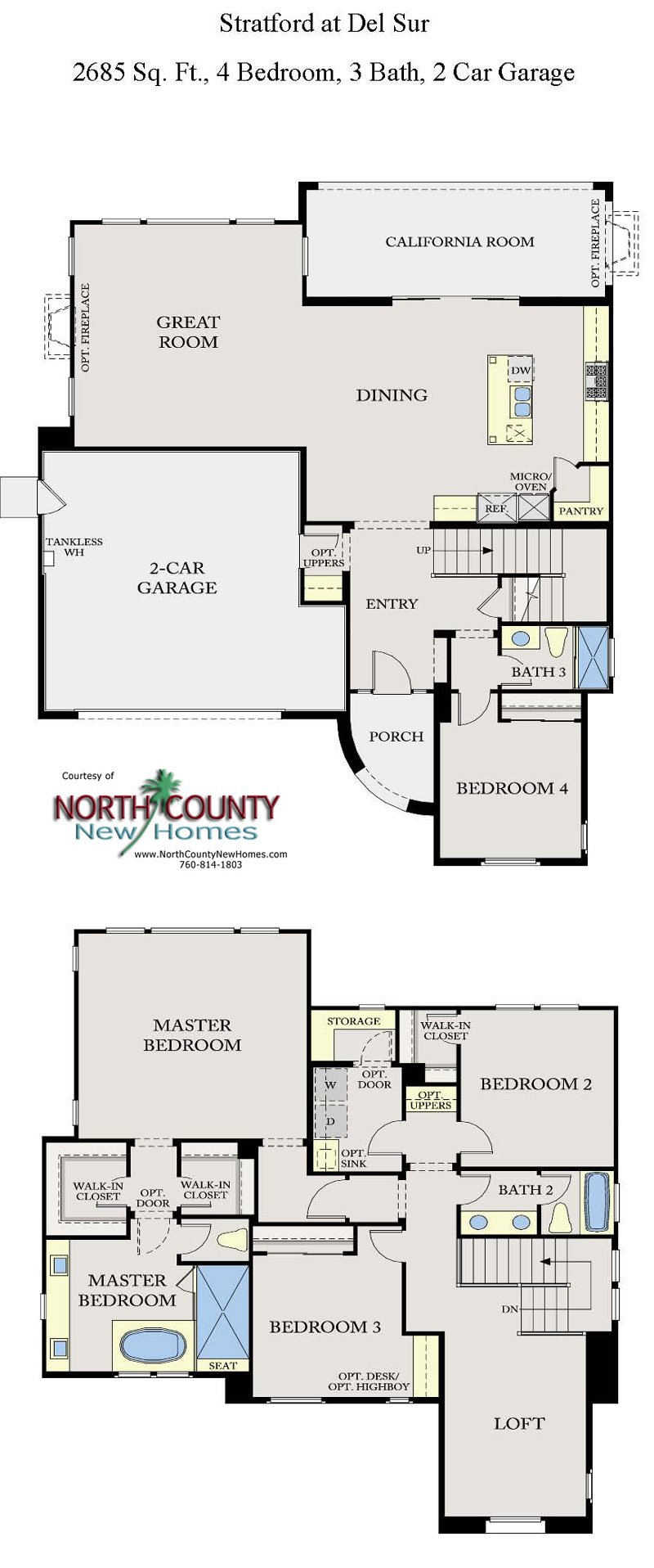 Stratford at del sur floor plans new homes in san diego for New house floor plans