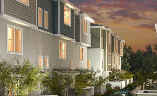 New homes in San Diego Mira Mesa New townhomes at Aura