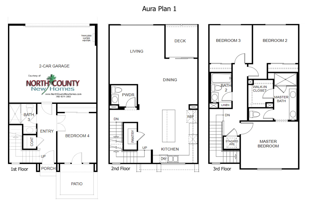 Aura floor plans new homes in mira mesa north county new for New home floorplans