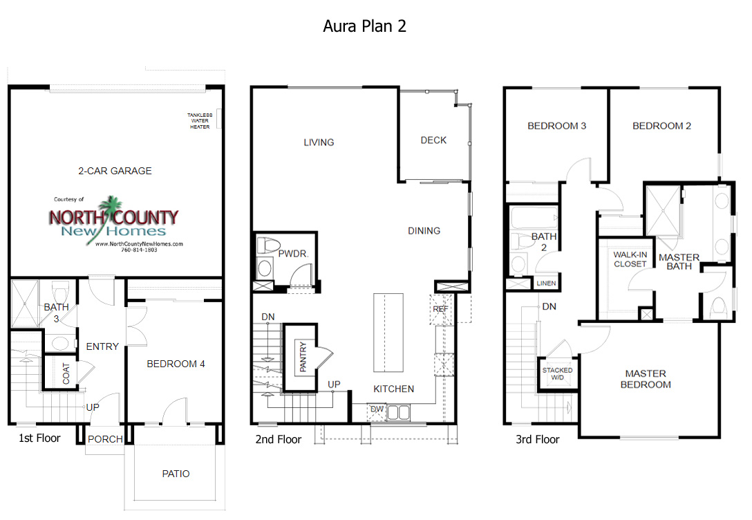 aura floor plans new homes in mira mesa - north county new homes