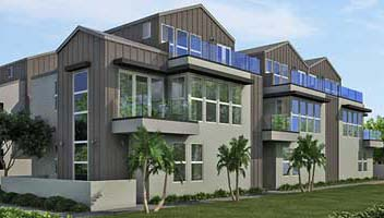 New homes and townhomes in Carlsbad, CA at Beachwalk at Madison