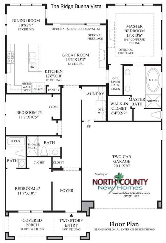 Buena Vista Floor Plan new homes in Carlsbad Ridge at Robertson Ranch