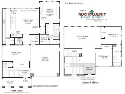 Candencia Floor Plan new homes in Carlsbad Ridge at Robertson Ranch