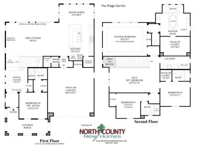 Carrillo Floor Plan new homes in Carlsbad Ridge at Robertson Ranch