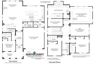 Paseo Floor Plan new homes in Carlsbad Ridge at Robertson Ranch