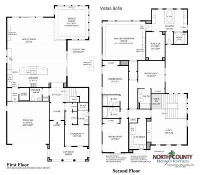 Sofia Floor Plan new homes in Carlsbad at Robertson Ranch