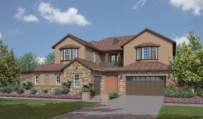 The summit at san elijo hills plan 4d north county new homes for Summit county home builders