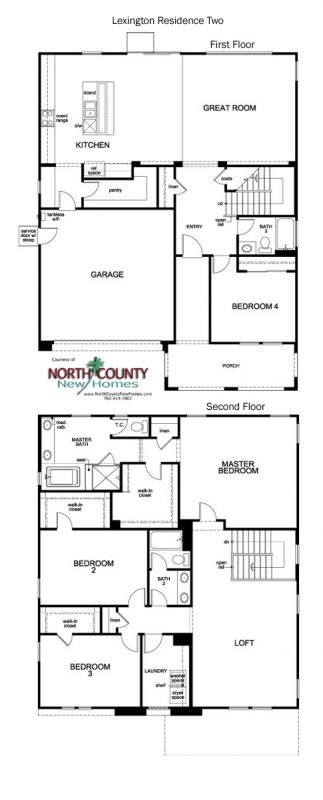 New homes in Escondido, CA at Lexington by KB Home. One and two story new single family homes. Floor Plan 2