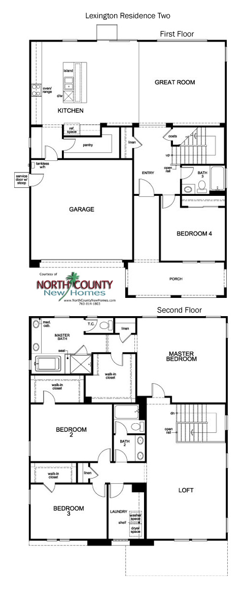 lexington floor plans new homes in escondido 1 & 2 story new homes