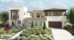 new homes in Carmel Valley, San Diego. Atersana new luxury homes. Exterior of plan 2B