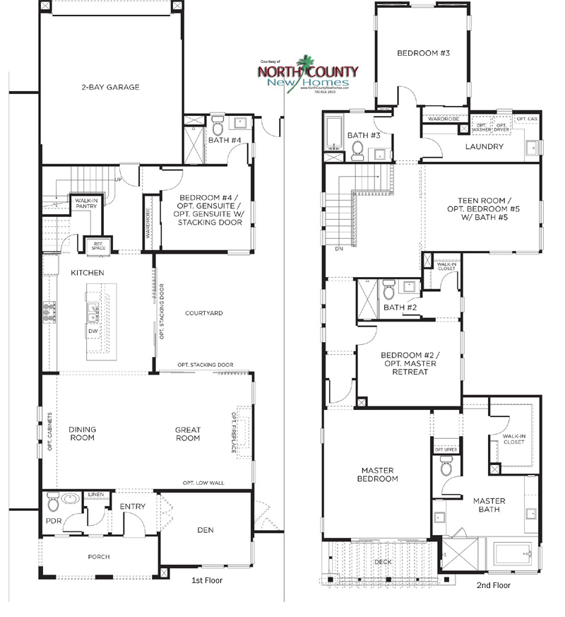 3 casavia floor plans new homes in pacific highlands ranch | san diego