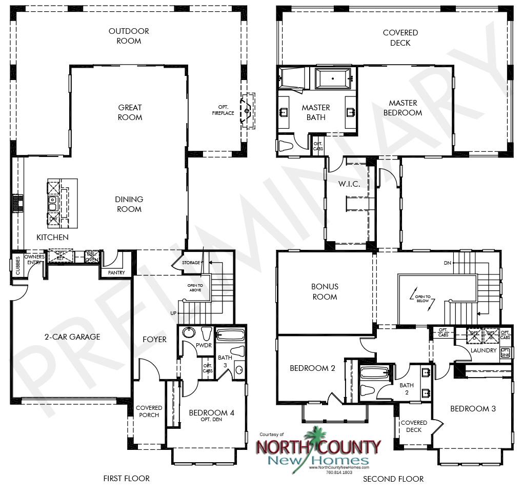 Portofino Floor Plans – Pacific Homes Floor Plans
