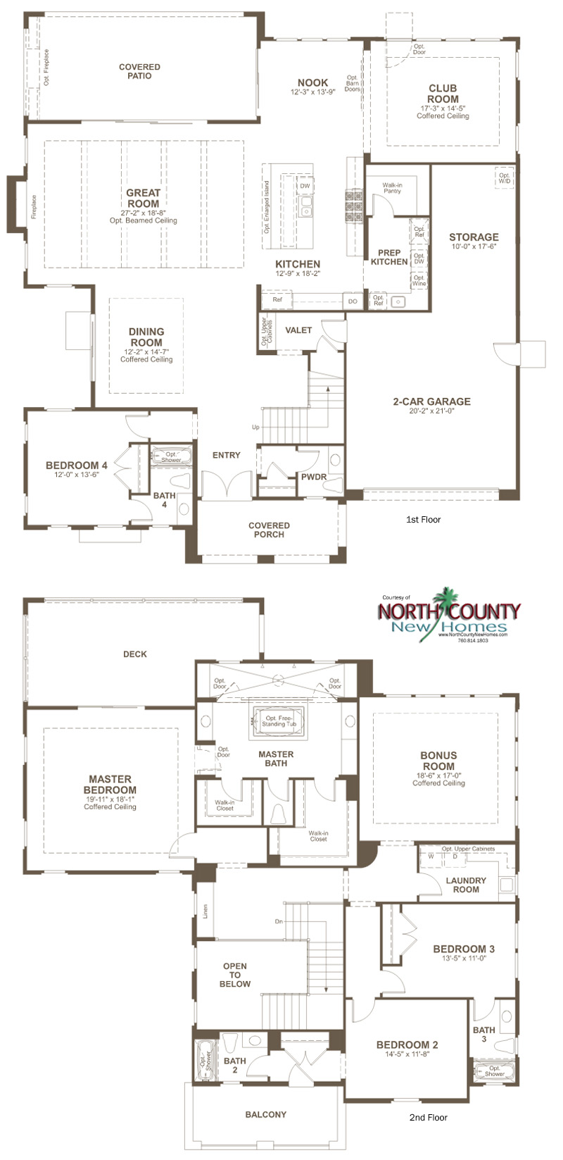 New homes in San Marcos and San Elijo Hills at The Summit at San Elijo Hills. New 1 and 2 story homes. Hudson floor Plan