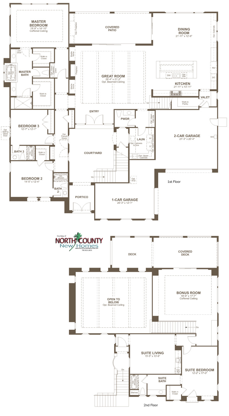 The Summit At San Elijo Hills Floor Plans North County