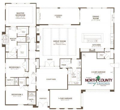 New homes in San Marcos and San Elijo Hills at The Summit at San Elijo Hills. New 1 and 2 story homes. Redmond floor Plan