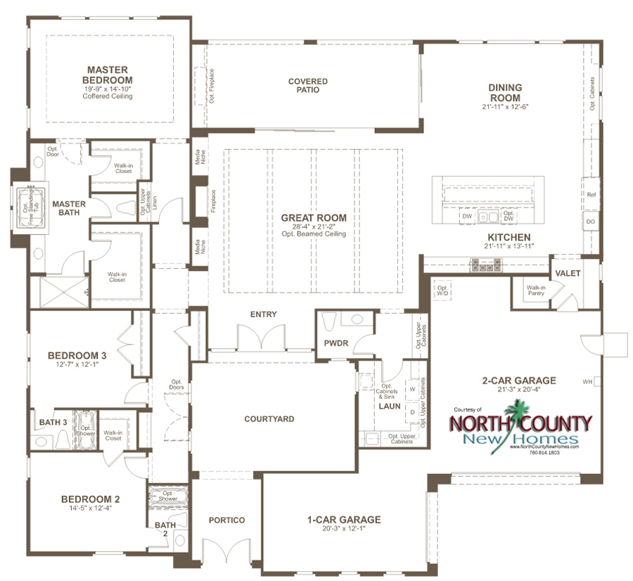 Summit redmond floor plan san marcos new homes north for Summit homes floor plans
