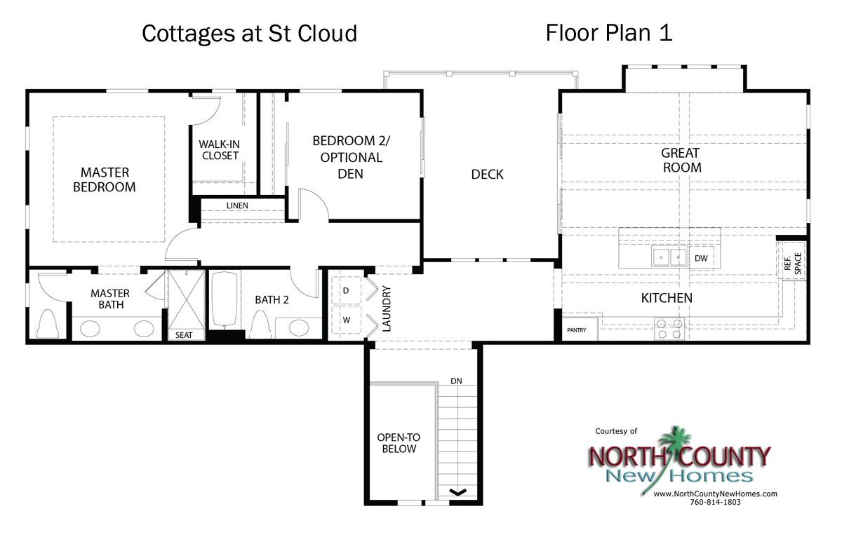 Cottages at st cloud floor plans new homes in oceanside for Oceanside house plans