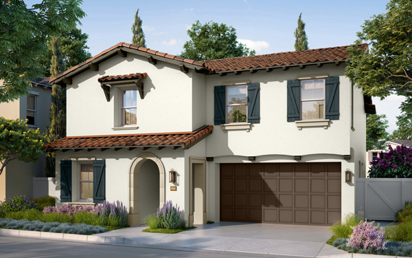 New homes in San Marcos, CA. Candela at Rancho Tesoro. New single family homes for sale. New construction homes. Plan 1C