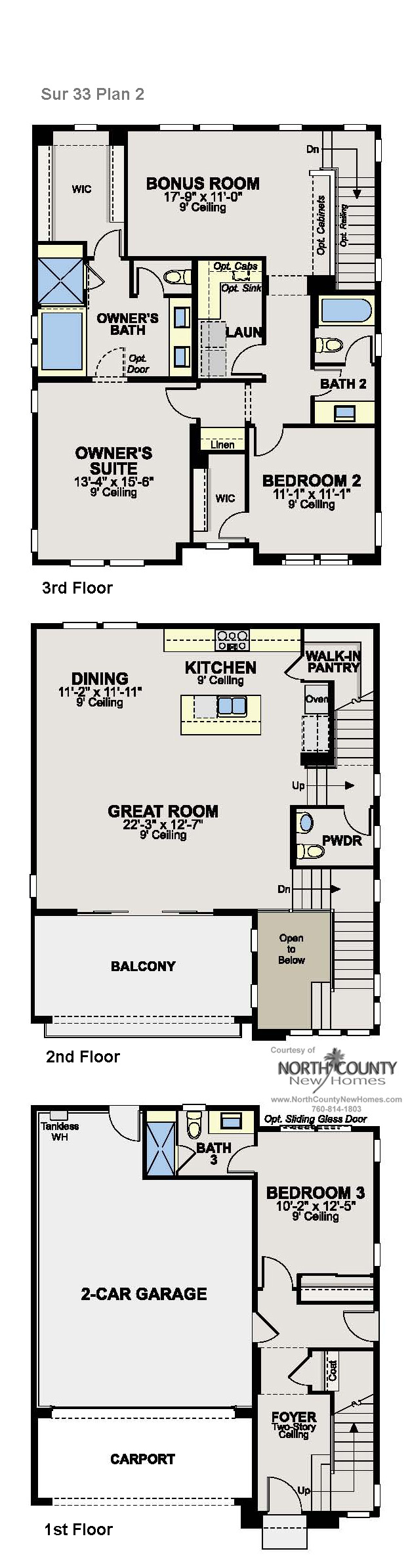 New Homes In Del Sur San Diego New Construction Homes Floor Plans