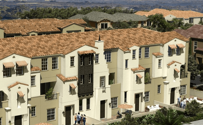 New 3 story townhomes in Oceanside, CA. Lucero at Pacific Ridge. New construction homes for sale.