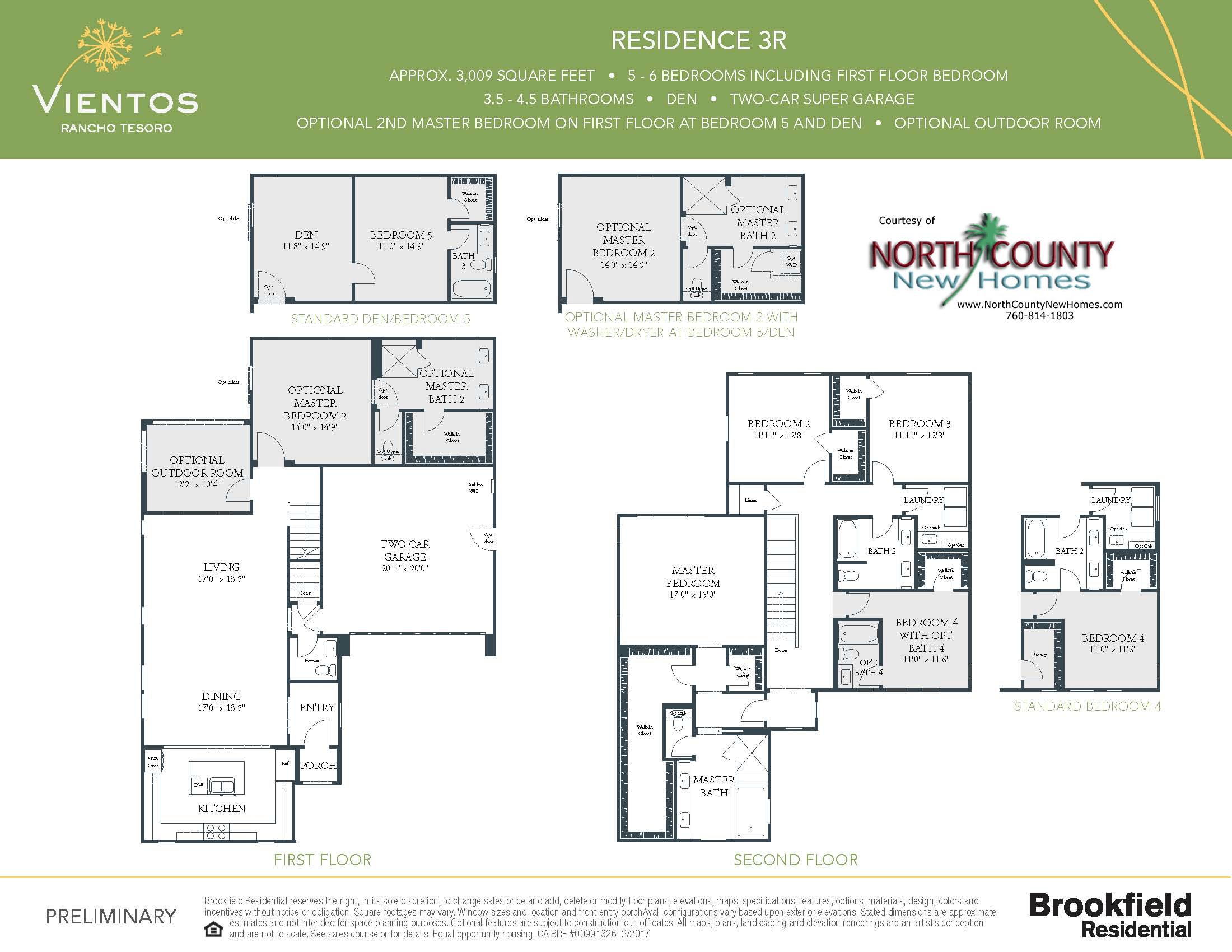 Vientos at rancho tesoro new home floor plans north for New home floor plans