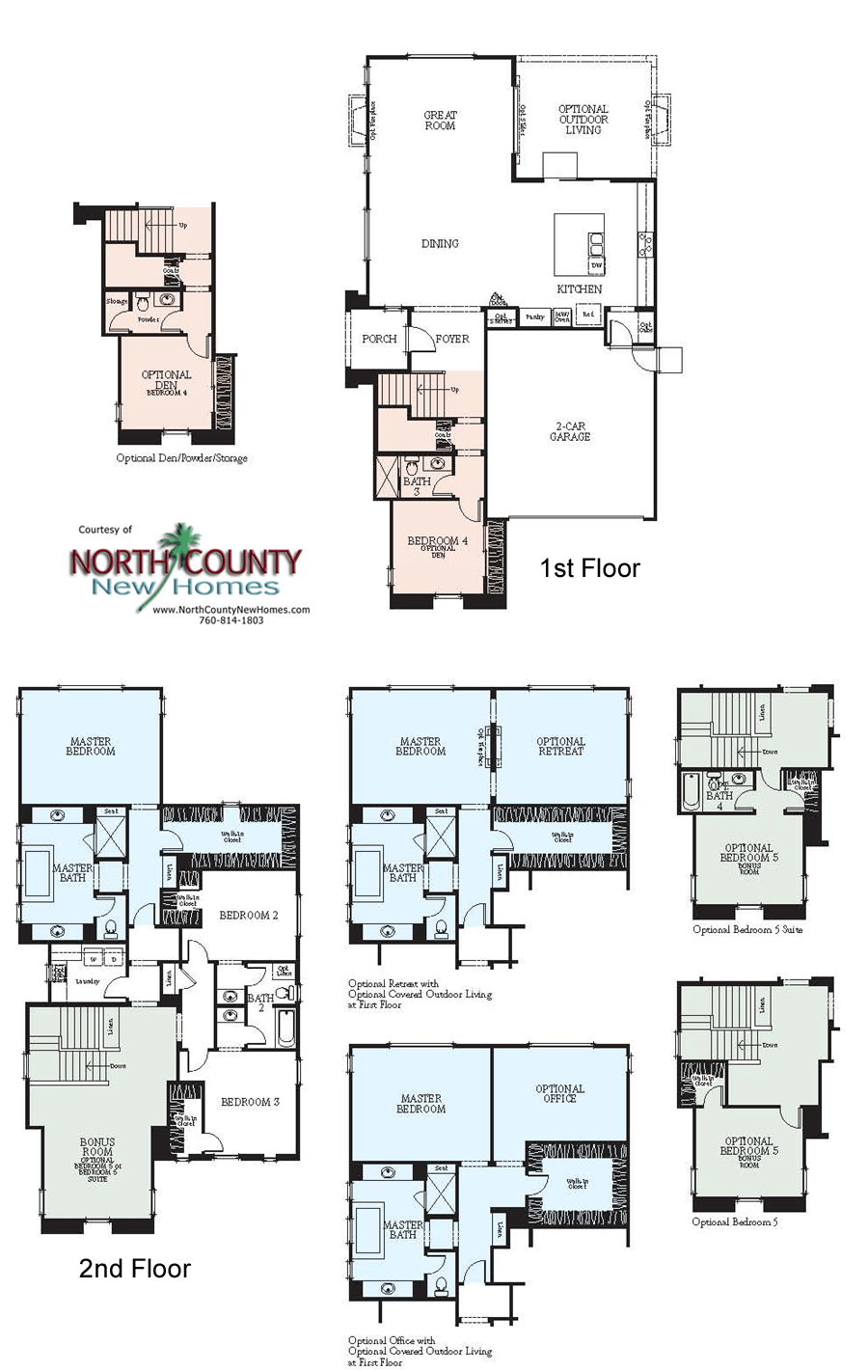 Westerly at rancho tesoro new home floor plans north for New home construction plans