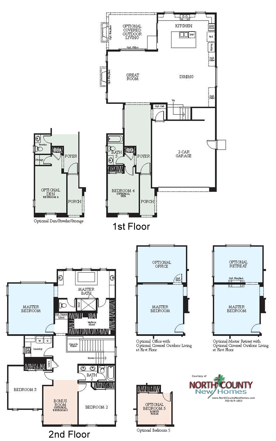 westerly at rancho tesoro new home floor plans - north county new