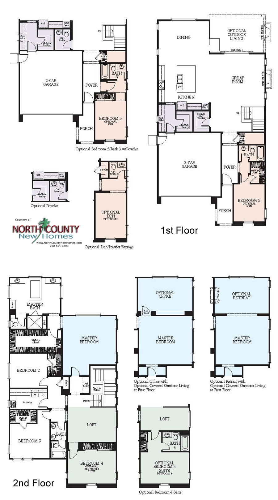 Westerly at rancho tesoro new home floor plans north for New home construction floor plans
