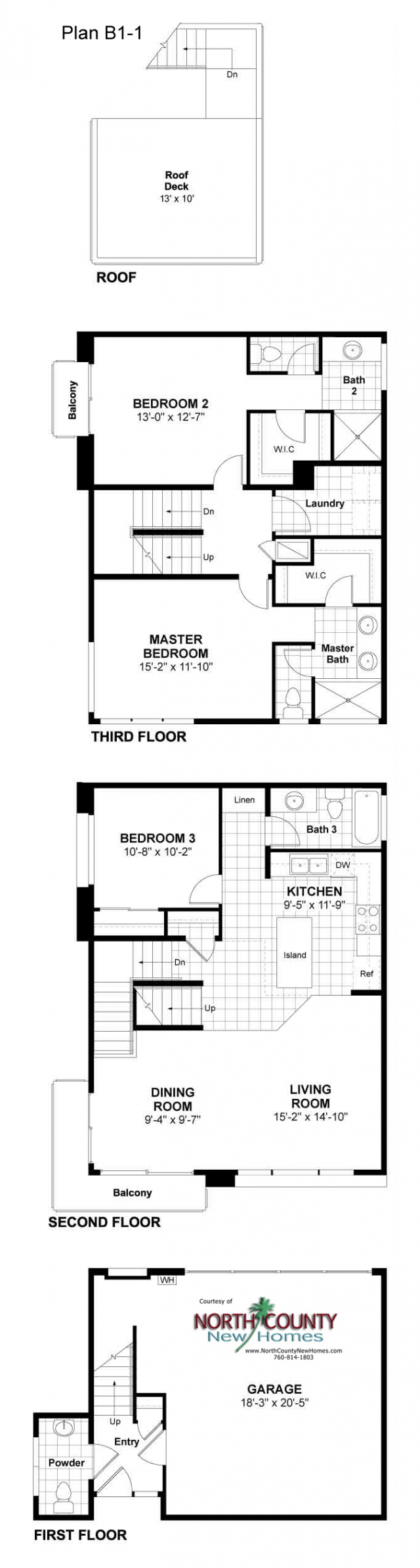 New homes and townhomes in Oceanside, CA. New construction homes for sale. North County San Diego new homes. Floor plans