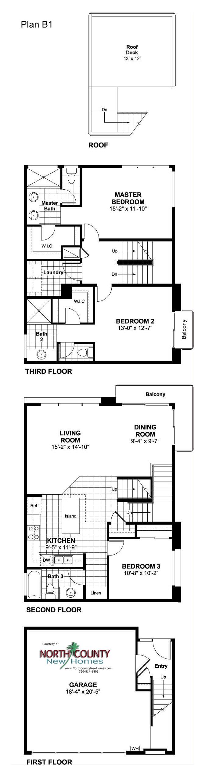 15 new townhomes in coastal oceanside floor plans for Oceanside house plans