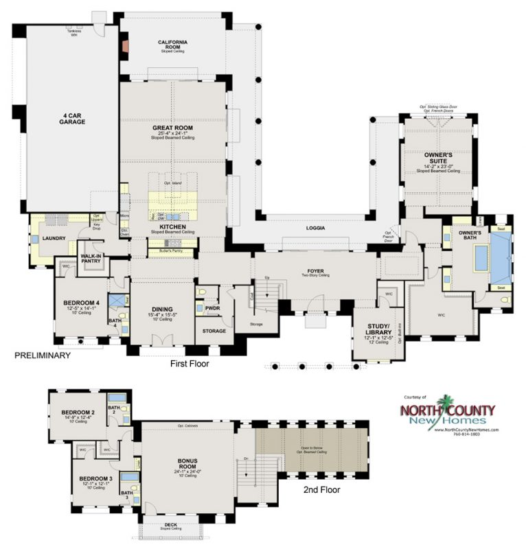 Artesian Estates new homes in Del Sur San Diego. New construction homes for sale. Floor Plan 3