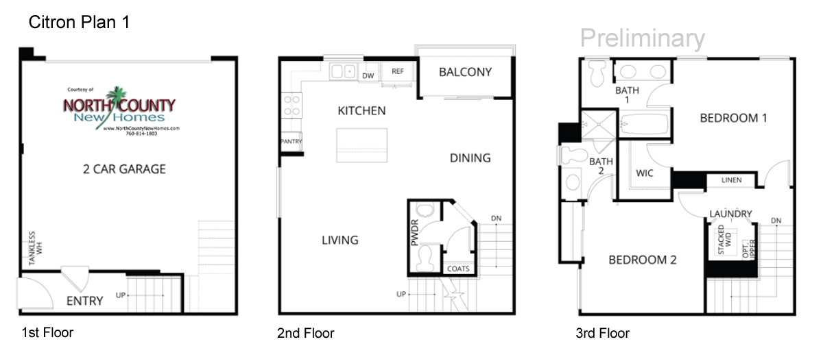 Inland homes floor plans citron floor plans new townhomes for 100 beauty salon escondido