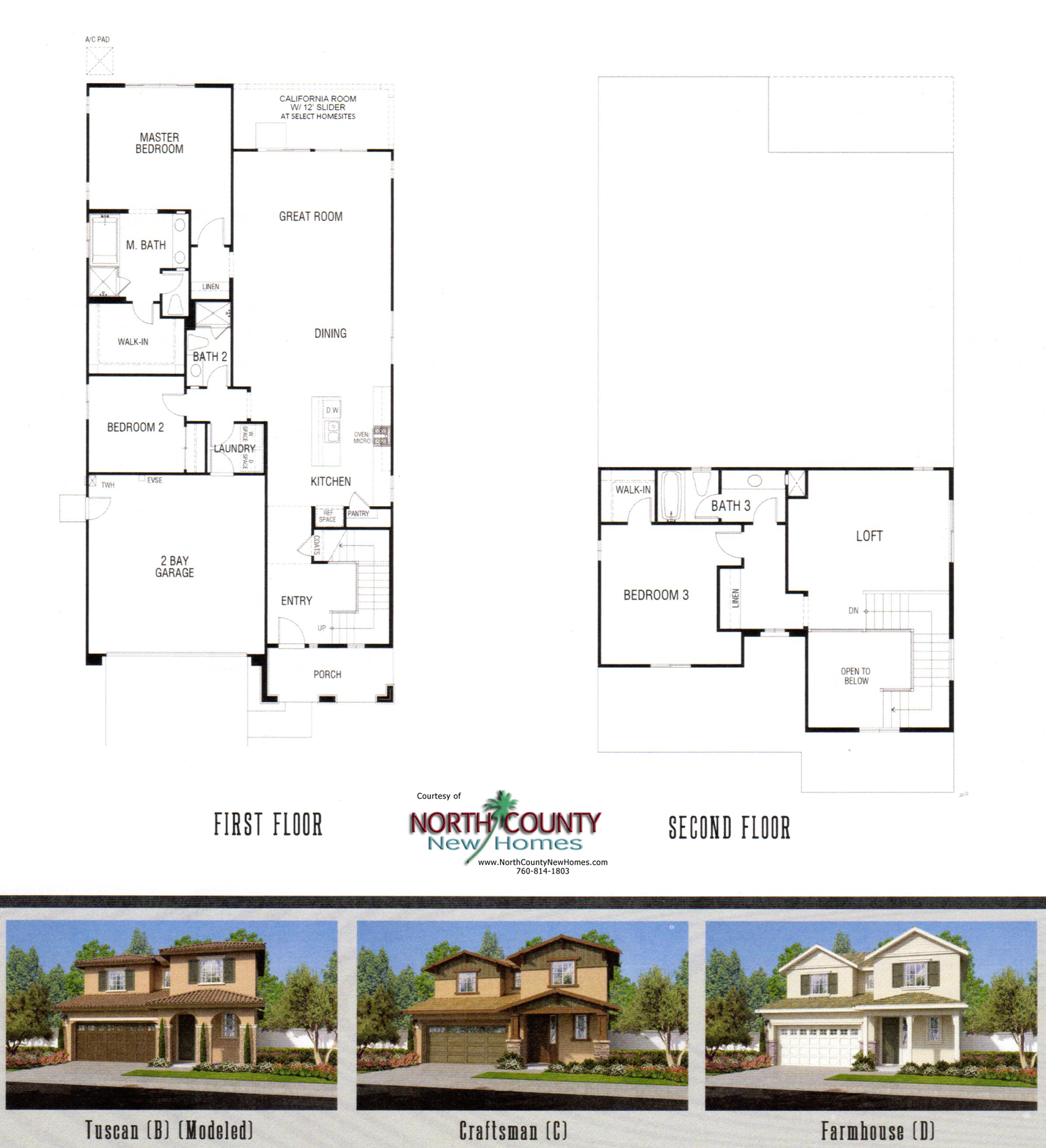 Westbury at horse creek ridge floor plans north county for New home construction floor plans