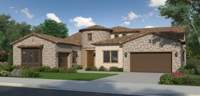 New homes in San Diego and Pacific Highlands Ranch. Zip code 92130. New construction single family luxury homes for sale. Palomar by Toll Brothers. Single story home.