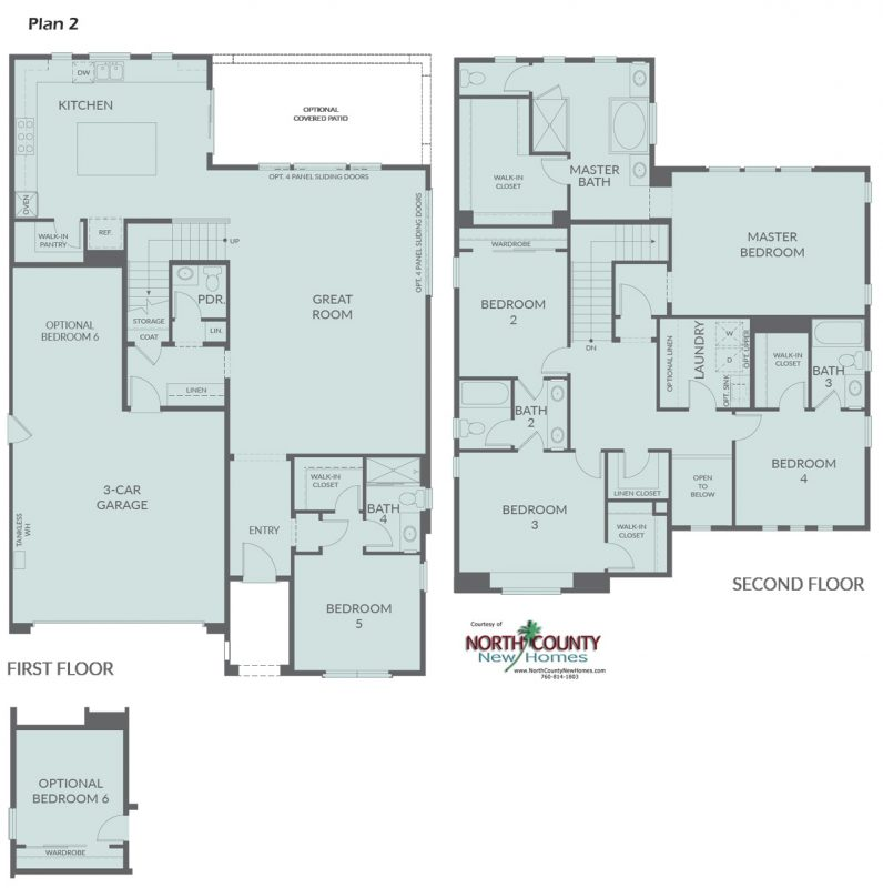New construction single family homes in San Marcos, CA. San Marcos new homes for sale. Floor Plans