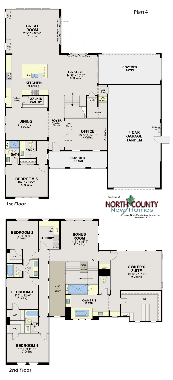 New homes in Escondido. Whiitingham in Harmony Grove Village. New homes in San Diego North County. New construction floor plans