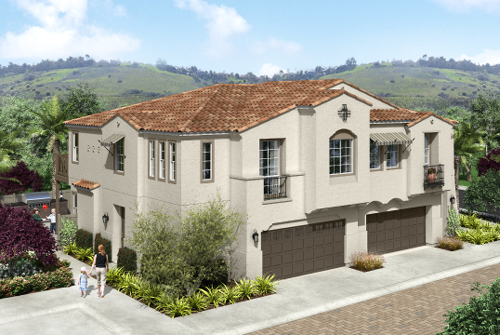 New homes in Carlsbad, CA. New townhomes for sale. Acacia at The Preserve. 2 story new townhomes located in San Diego North County.