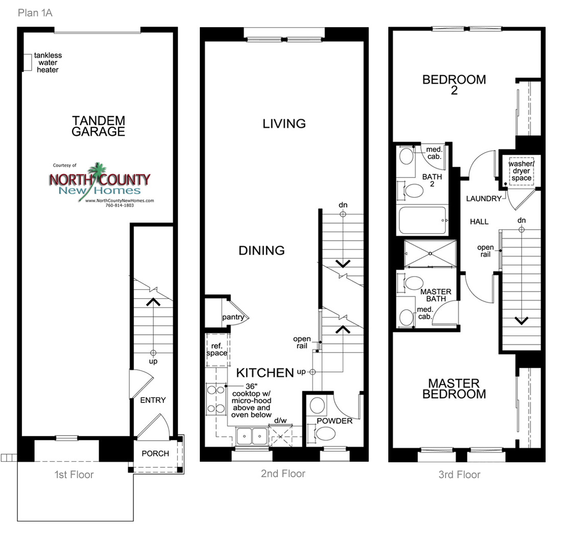 Laterra Townhomes Floor Plans San Diego New Homes