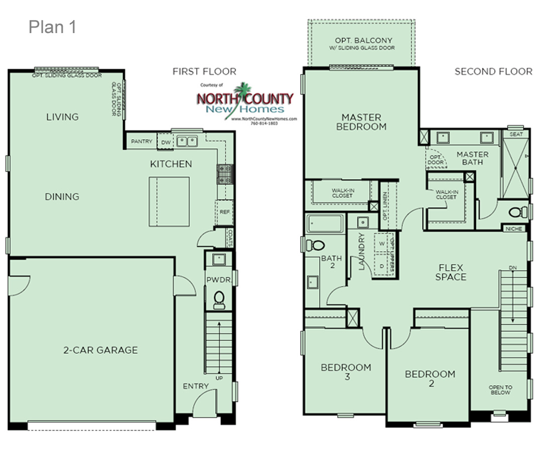 3 altura at pacific ridge floor plans north county new homes for Oceanside house plans