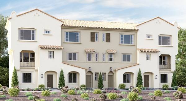 New homes in Vista CA. 47 new 3 level homes. New construction in San Diego North County.