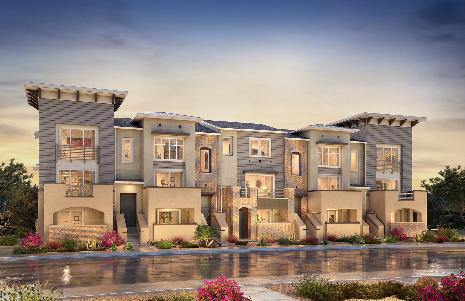 New townhomes in Carlsbad Bressi Ranch at Kensington at the Square. New construction condos and townhomes. Carlsbad and North County San Diego new homes fro sale.