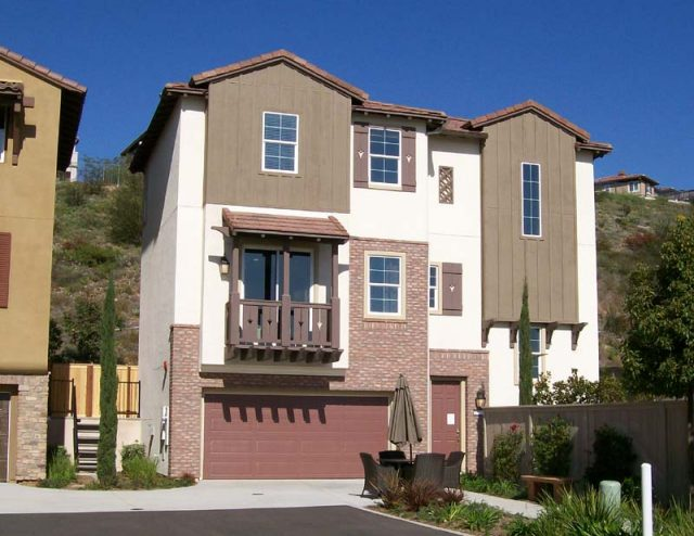 Exterior of New Construction Home at Belmont in San Elijo Hills