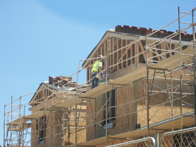Picture of Voscana construction in Carlsbad by Shea Homes