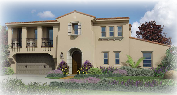 Preliminary exterior plan 3 at Seaside Ridge in Encinitas. New construction homes for sale in Leucadia and Encinitas by Brookfield Homes