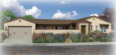 Preliminary exterior plan 7 at Seaside Ridge in Encinitas. New construction homes for sale in Leucadia and Encinitas by Brookfield Homes. Single story homes for sale in Encinitas