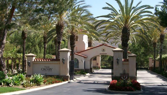 Entrance to The Crosby at Rancho Santa Fe