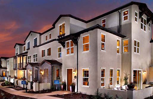 Picture of Triton Square at Veridian. New homes in North County San Diego. New Townhomes for sale.