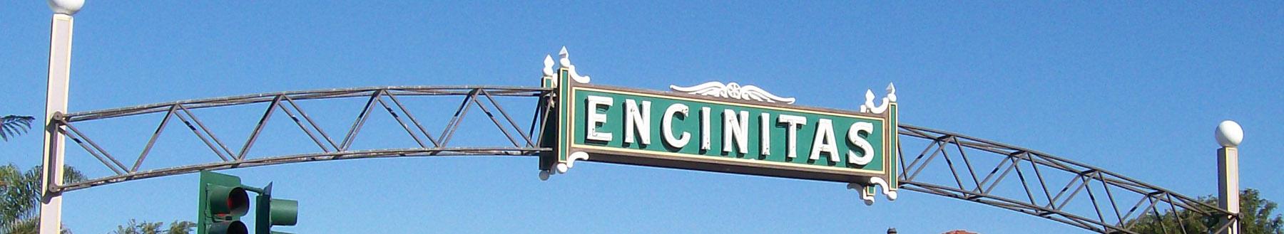 Encinitas New Homes for sale. Downtown Encinitas sign