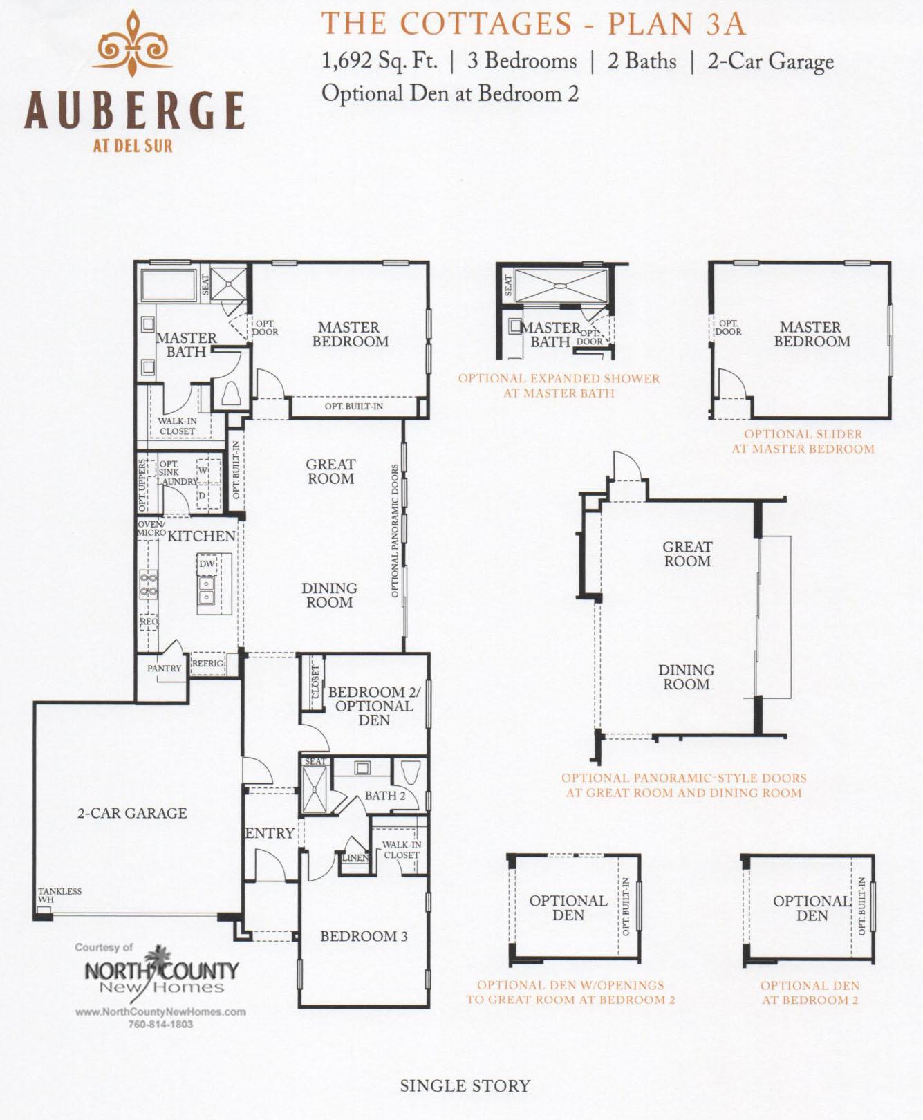 Auberge At Del Sur The Cottages Floor Plans New Homes