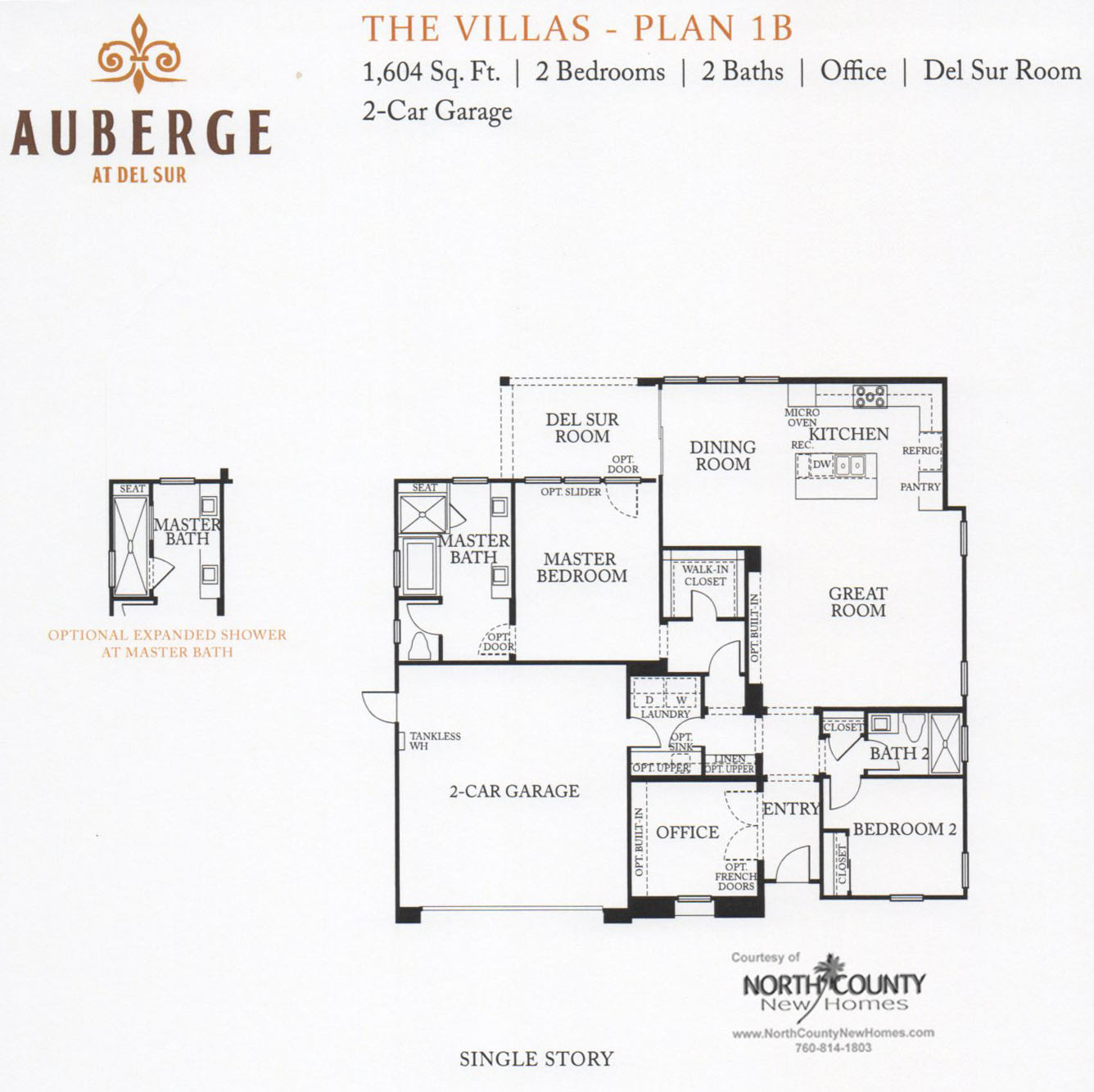 55+ New Homes | Auberge at Del Sur Villas Floor Plans